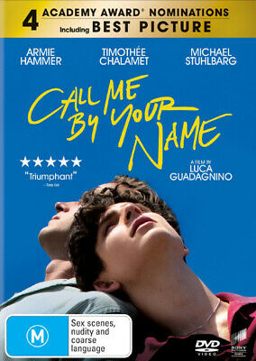 AU18.95 • Buy Call Me By Your Name DVD | A Film By Luca Guadagnino | Region 4 & 2