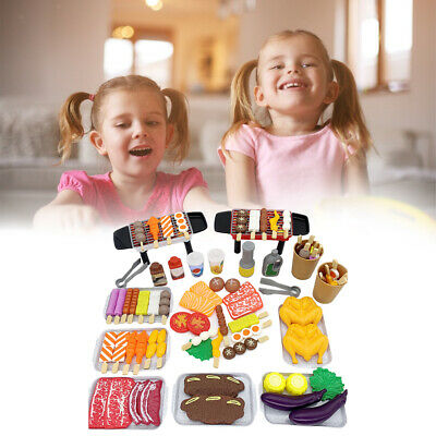 AU30.95 • Buy Barbecue Kitchen Play Set Role Pretend Game Toy Fun Play Gift For Kids 3+ 80pcs