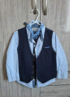 £14.99 • Buy Boys Infant Blue Next Full 3 Piece Suit Occasion Wedding Wear 2-3 Years