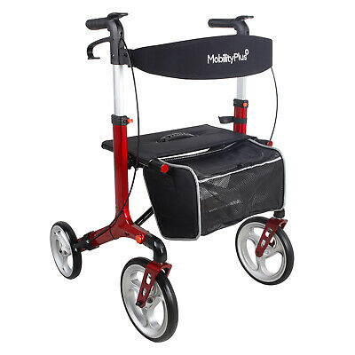 £114.99 • Buy NEW MobilityPlus+ Deluxe Rollator Ultra-Light Folding Mobility Walker With Seat