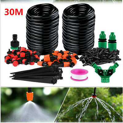 £10.99 • Buy 30M Micro Drip Irrigation Watering Automatic Garden Plant Greenhouse System UK