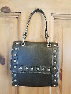 £4 • Buy Funky Little Faux Leather Studded Bag Emo Goth Punk Good Used Condition.