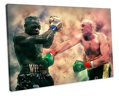 £29.99 • Buy BOXING Tyson Fury CANVAS WALL ART Print Poster Picture