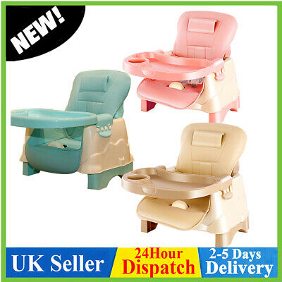 £21.98 • Buy Adjustable Foldable Baby Chair Infant Feeding Seat Toddler Table Chair Portable