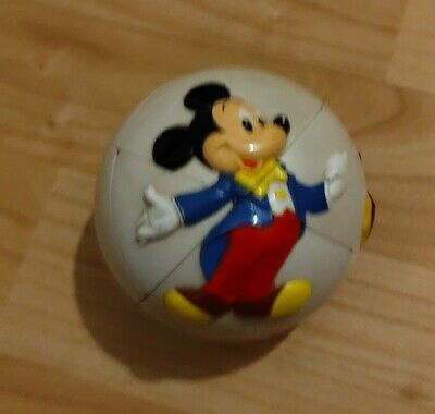 £9.90 • Buy Disney Mickey Mouse 3D Puzzle Ball Rubiks Cube Style Challenge Game Vintage Toy