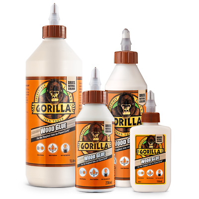£6.89 • Buy Gorilla Wood Glue Water Resistant PVA Strong Fast Bond Non Foaming Adhesive NEW