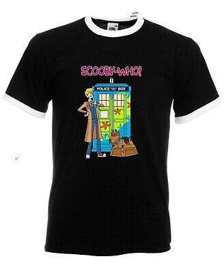 £7.99 • Buy Scooby-Doo Doctor Who TARDIS T-Shirt Time Machine Horror Halloween Party Ringer
