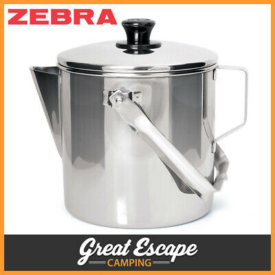 AU54.90 • Buy Zebra Stainless Steel Camp Kettle 14cm - 2 Litres Billy