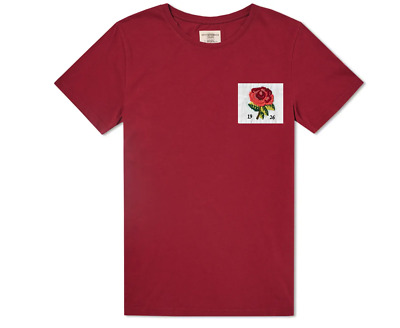 £34.95 • Buy KENT & CURWEN Mens T-Shirt Casual Crew Neck Rose Chest Patch RASPBERRY Top Size