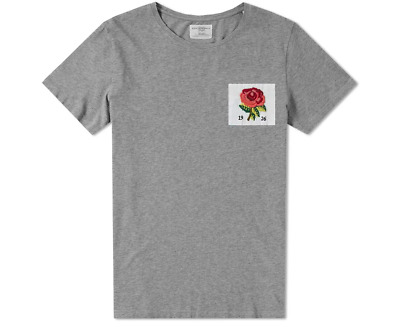 £34.95 • Buy KENT & CURWEN Mens T-Shirt Casual Crew Neck Rose Chest Patch GREY Top Size S-2XL
