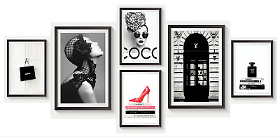 £3.99 • Buy Set Of 6 Fashion Vogue Designer Wall Art Bedroom Print Home Posters Deco Gift S1
