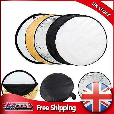 £12.18 • Buy 60cm Round 5 In 1 Photography Studio Photo Disc Collapsible Light Reflector