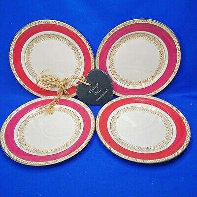 £18.75 • Buy Vintage 1930s SAMPSON BRIDGWOOD * 4 X LUNCH PLATES 9  (A3635) Maroon Gold GC