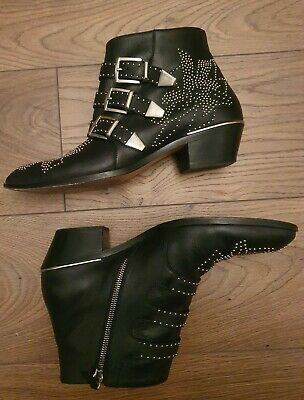 £420 • Buy Genuine Chloe Susanna Boots Studded Leather With Box 40.5