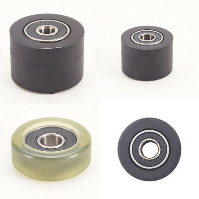 £2.70 • Buy 30mm OD Plastic Nylon Pulley Wheel Sealed Guide Roller Groove Ball Bearing Flat