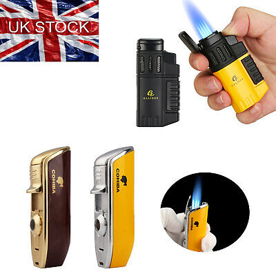 £12.99 • Buy Cohiba 3 Jet Cigar Lighter Windproof Adjustable Flame Refillable Torch Lighters