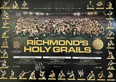 AU150 • Buy RICHMOND HOLY GRAIL Signed By Trent Cotchin PRINT ONLY
