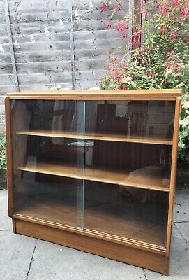 £75 • Buy E Gomme G Plan Glass Sliding Door Bookcase Display Drinks Cabinet Retro MCM