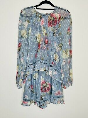 AU330 • Buy Zimmerman Silk Playsuit Size 3 (Would Fit 12 Best But Also 10 & 14 Ok)