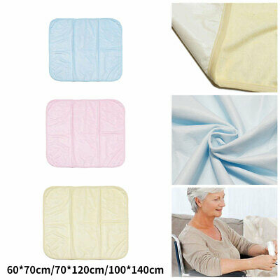 £12.65 • Buy Washable Incontinence Bed Pad Reusable Wetting Protective Dry Mats Absorbent