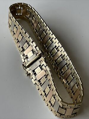 £595 • Buy 9ct Gold Italian Vintage Bracelet By Gruppach Orfeo Superb Quality 28.6 Grams