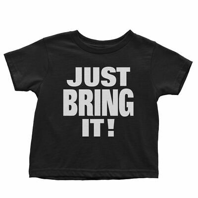 £18.08 • Buy Official WWE Authentic The Rock  Just Bring It  Toddler T-Shirt Black/Orange