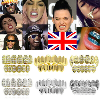 £3.99 • Buy Tooth Hip Hop Grills Teeth Cap 18K Plated Top Bottom Grill Punk Bling UK 2021