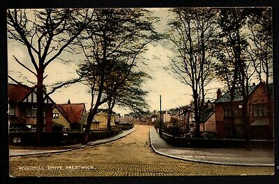 £5 • Buy Prestwich, Woodhill Drive - North Of Salford - Colour Printed Postcard