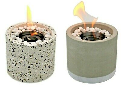 £19.99 • Buy Bio Ethanol Fireplace Tabletop Marble Burner Fire Pit Bowl Pot Round Sparky