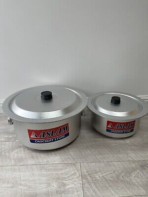 £135 • Buy Aluminium Cooking Pots Catering Pots Large Stockpot With Lids And Handles. 45cm