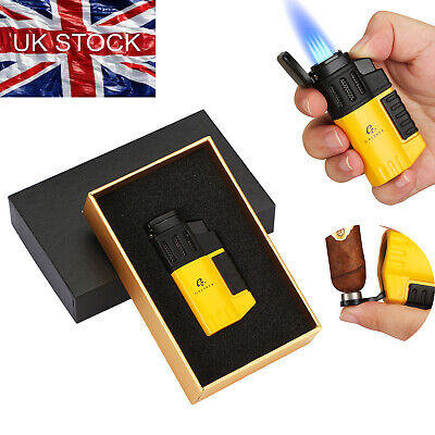 £12.99 • Buy Galiner Windproof Refillable Cigar Lighter Punch 4 Jet Flame Torch W/ Gift Box