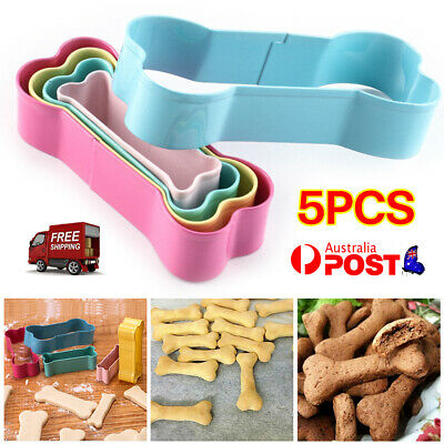 AU8.99 • Buy 5Pcs Stainless Steel Dog Bone Cookie Cutter Biscuit Fondant Pastry Baking Tools