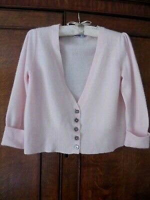 £7.99 • Buy M & S 'autograph' - A Beautifully Soft Pink Cashmere Cropped Cardigan - Uk 14