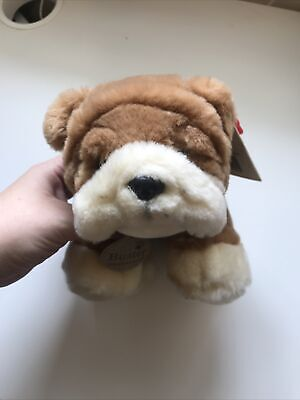 £8.99 • Buy Keel Toys Simply Soft Collection Buster The Bulldog  Plush Toy With Tag Used