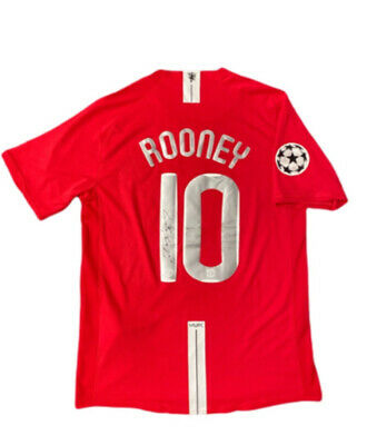 £279.99 • Buy Wayne Rooney Signed Manchester United 2008 Champions League Football Shirt