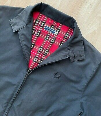 £95 • Buy FRED PERRY MADE IN ENGLAND BLACK REISSUES HARRINGTON JACKET S Tartan Small