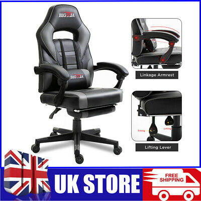 £55.50 • Buy Swivel Racing Gaming Chairs Office Executive Recliner PC Computer Desk Chair