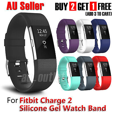 AU4.95 • Buy Replacement Silicone Watch Wrist Sports Band Strap For Fitbit Charge 2 Wristband