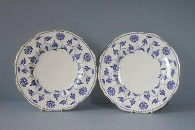 £37 • Buy Pair Of  Spode COLONEL BLUE  SALAD PLATES    C1928