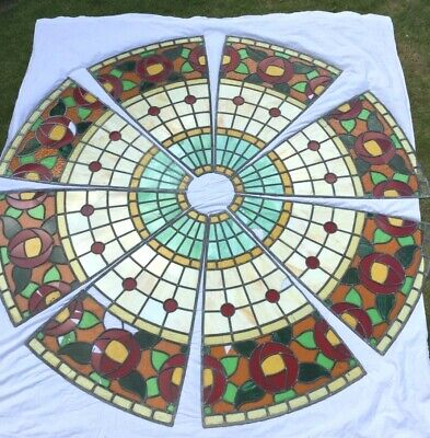 £270 • Buy Stunning Victorian Huge Stained Glass Leaded Window, Skylight.