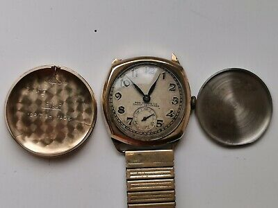 £37 • Buy MENS VINTAGE ROTARY Cal. 8/460 9CT GOLD METEOR DOUBLE CASED 15J TRENCH WATCH