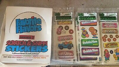 AU273.69 • Buy 15 Scratch & Sniff Stickers 1983 Gordy Bubble Yum & Life Savers & Box 5 Of Each
