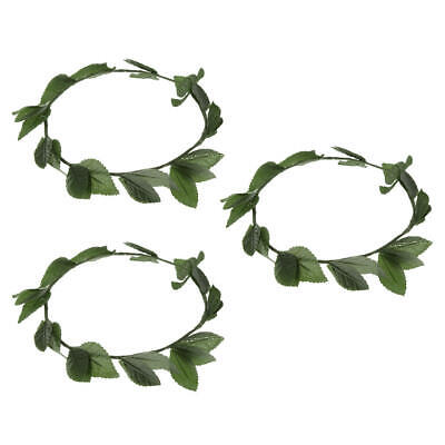 £6.83 • Buy 3pack Womens Green Wreath Hairband Toga Dress Up Elf Costume Accessories