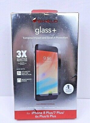 £6.51 • Buy ZAGG Invisible Shield (Glass +) Screen Protect IPhone 8/7/6s Clear Case Friendly