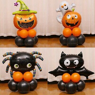 £5.99 • Buy Halloween Display Stand Balloons Foil Party Kids Happy  Bat Spider Witch Decor