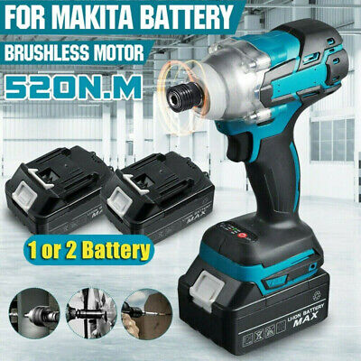 £40.99 • Buy Brushless Cordless Impact Wrench 1/2  Driver Replace W/ Li-ion Battery Charger