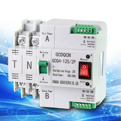 £35.02 • Buy Dual Power Automatic Transfer Switch 2p 63A/100A Circuit Breaker