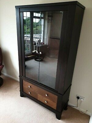 £10 • Buy Solid Wood Rosewood Display Cabinet With 2 Glass Doors 2 Drawers With Lights