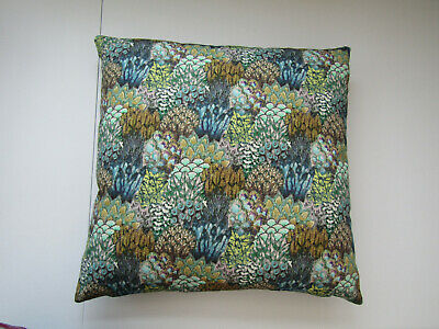 £8.49 • Buy NEW, ART OF THE LOOM   PEACOCK   REVERSABLE CUSHION COVER.TOPAZ 20  X 20  COTTON