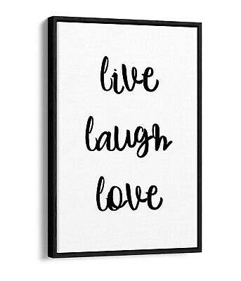 £24.99 • Buy  Live Laugh Love  Happy Inspirational Quote Home -float Effect Canvas Art Print